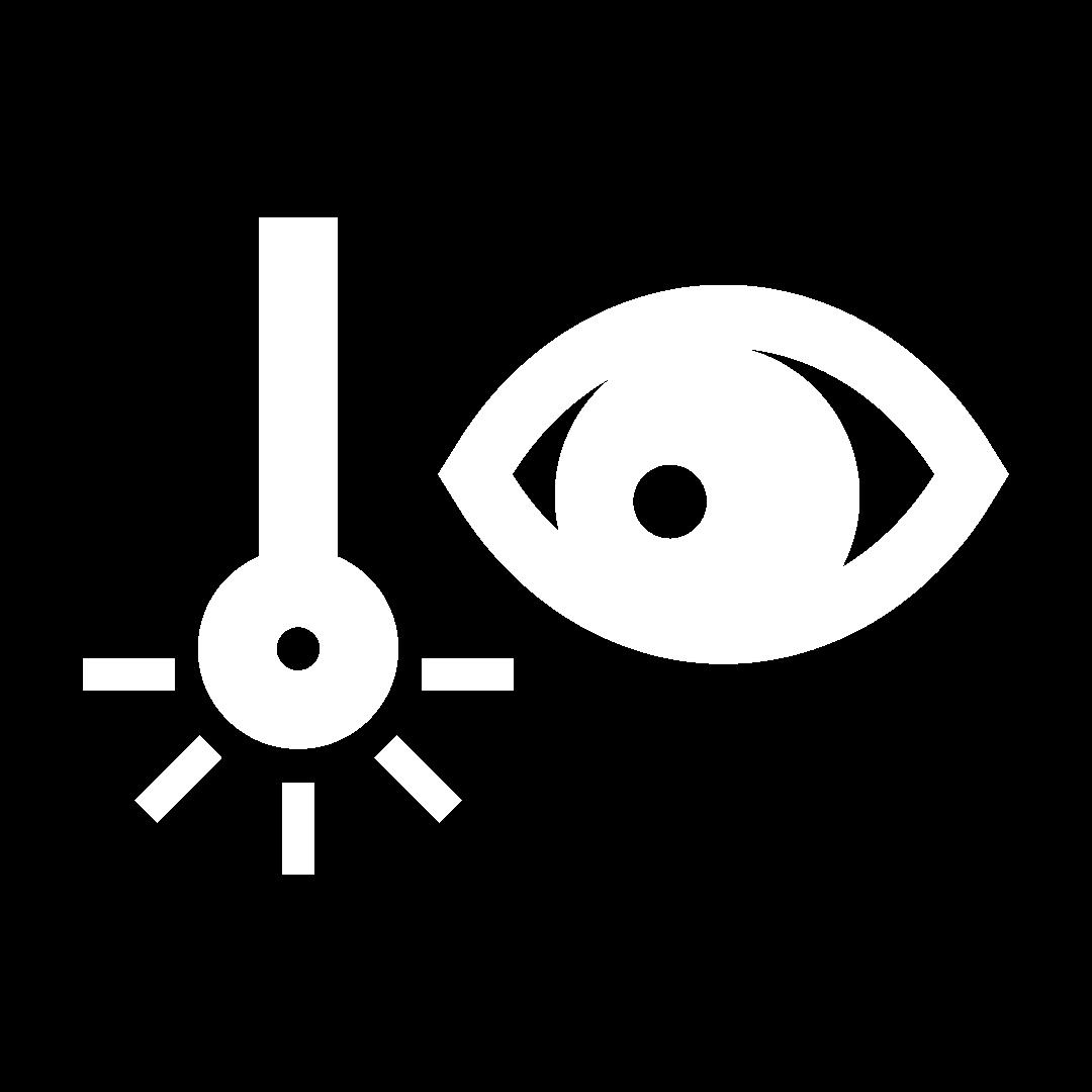 Ilustração de olho seguindo movimento de uma haste