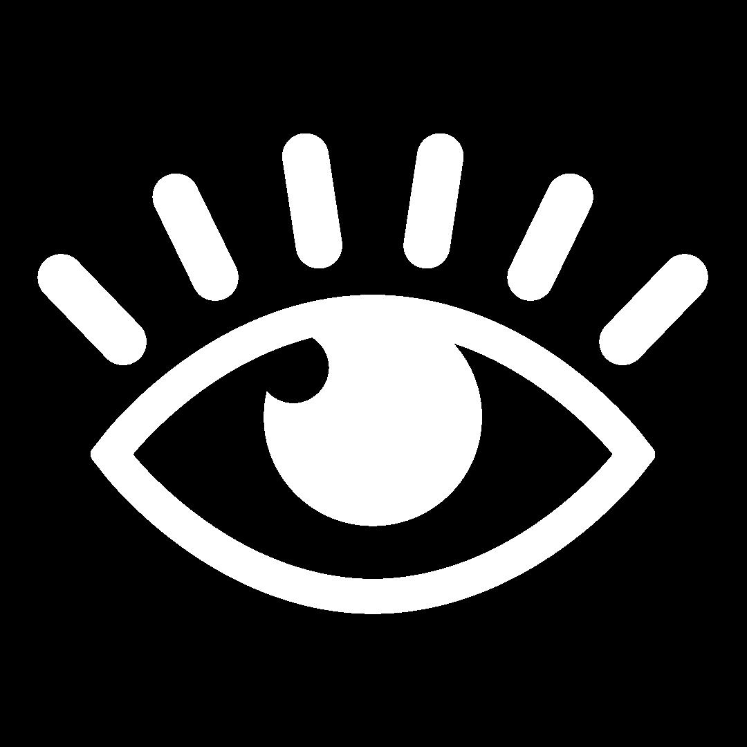 Ilustração de olho seguindo algo para cima